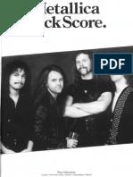 (Guitars - Bass - Drum) - Metallica - Rock Score