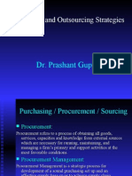 Procurement & Outsourcing Strategies