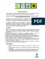 TDR Construcción de Herramientas de Auditoria Social