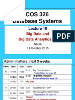COS326 Big Data Analytics Lecture19