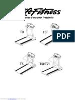 Manual Técnico trotadora t3 Life Fitness