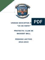 Proyecto de Club Basket