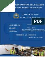 Módulo de Procedimientos Tecnicas Operativas Policiales.V