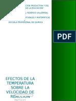 Efecto de la temperatura en la cinetica quimica
