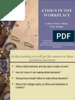 Ethics Instruction