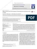 Effect of Shear Rate on the Response of Microbial Fuel Cell