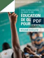 Resume Executif SITAN RDC 2015 Version Francaise.