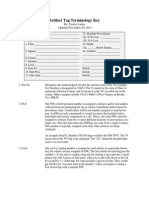 artifact tag terminology key pdf
