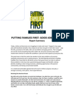 Putting Families First Report Summary