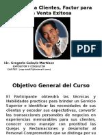 Lic. Gregorio Galaviz Enero 2015 Atención a Clientes, Factor para la Venta.pptx