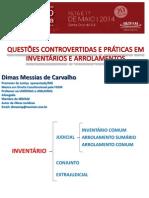 Dr. Dimas Messias de Carvalho Inventario e Arrolamento