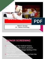 Donor Screening