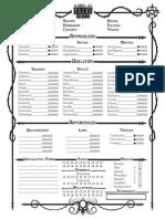 Demon the Fallen Character Sheet