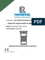 Cazan ORLAN SUPER96 130 Instalare,Service