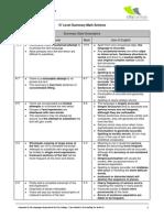 Summary Mark Scheme