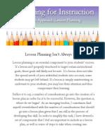 lesson planning post