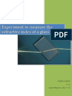 Finding the Refractive Index of a Glass Block