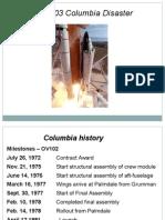 Tech Disaster Columbia