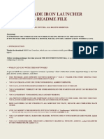 Iron Launcher 1.3 - Readme File