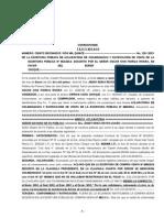 Escritura Pública de Aclaración, Protocolizada en Notaria de Fe Pública - Bolivia, Minuta de Aclaración de Datos; 2015