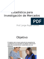 Estadística Para Investigación de Mercados