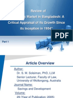 Article Review of Securities Market in Bangladesh Part 1