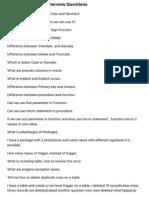 Capgemini PL:SQL Interview Questions