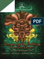 Programa VIII Semana de las Culturas de la Sierra Juárez