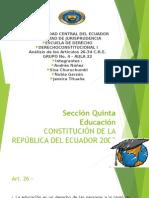 analisis de los articulos 26 Al 34 CONSE