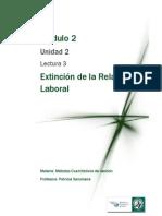 Lectura 3 - Extinción de La Relación Laboral