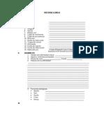 Modelo Historia Clinica completa
