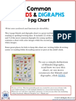 FREE Blends and Digraphs Chart