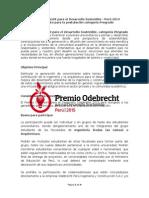 2015 Premio Odebrecht Bases Pregrado