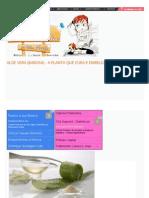 Aloe Vera (Babosa) - A Planta Que Cura e Embeleza _ Clube Do Cabelo e CIA