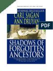Carl Sagan e Ann Druyan - Sombras de Antepassados Esquecidos
