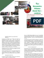 Diptico Zonal Sur Filial La Xiv Ainilebu