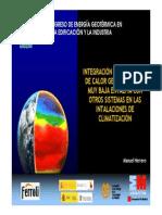 Manuel Herrero Integracion de Las Bombas de Calor Geotermicas de Muy Baja Entalpia Con Otros Sistemas en Las Instalaciones de Climatizacion
