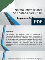 Norma Internacional de Contabilidad N° 18