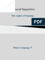 General Linguistics