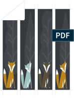 Bookmarks Foxes
