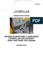 Manual Sistema Monitoreo Caterpillar Advisor Tractores Bulldozers Componentes Instrumentos Tablero