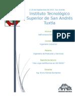 Reporte Del Libro ¡Nos urge certificarnos en ISO 9000!