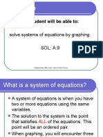 Solve Systems by Graphing PowerPoint Notes