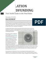 Regulation Crowdfunding CCA Distilled
