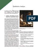 Qualitative Analyse
