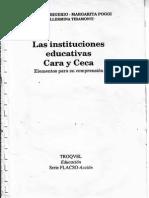 Las Instituciones Educativas-Cara y Seca