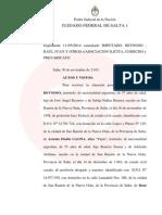 Fallo completo de procesamiento del juez Reynoso