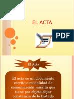 EL ACTA