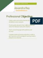 alexandra ray- cv revised  masters une
