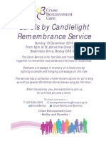 2015 Remembrance Carol Service Poster